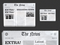 Freebie: Newspaper Icons