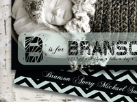 B Is For Branson Baby Announcement
