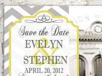 Chevron Save The Date Design