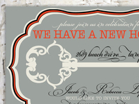 Vintage Key Housewarming Party Invitation