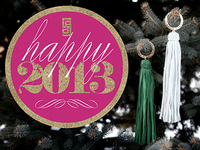 Happy 2013 Tassel Photo Promo