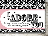 Custom Valentines Design   I Adore You