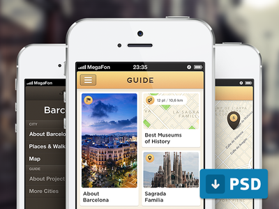 Download Guide App Free .PSD