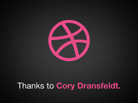 Dribbble Shot Thanks