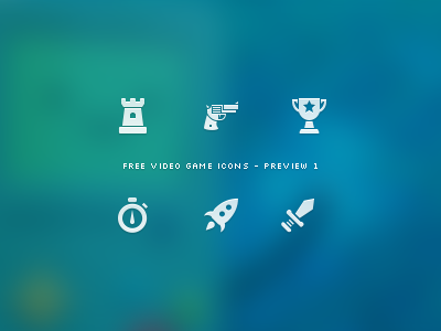 Video Game Icon Set - Preview 1
