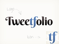 Tweetfolio logo + icon