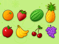 Tiki Fruit Icons