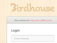 Birdhouse's Login
