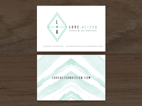Love, Alison Business Cards