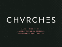 Part of a CHVRCHES poster