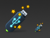 usb flash icon