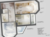 3d apartment plan #2