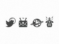 Space Theme Icons for Letterpress