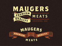 Maugers Meats - Logo Explorations