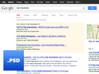 Google Search Engine Results Page PSD