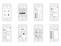 Older iOS App Wireframes