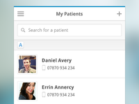 Clinical Dashboard - My Patients (Mobile)
