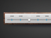Wood & Brushed Metal Timeline - FREE PSD