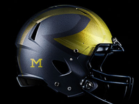Michigan Wolverines alternate helmet