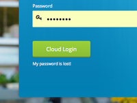 Cloud Login Screen