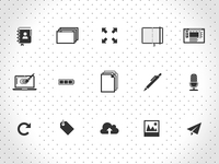 Flat icon set II
