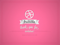 Thank you dribbble!