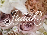 Judith's logo with business card backing