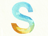 "Watercolor ""S"""
