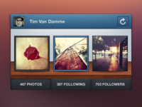 Instagram Mini Profile – PSD