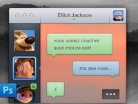 Senseless Chat app – PSD