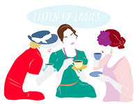 """ladies luncheon"" bridal shower invite illustration"
