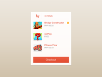 My Cart Items UI Concept