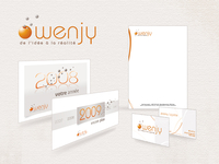 Visual identity and stationnary for Wenjy
