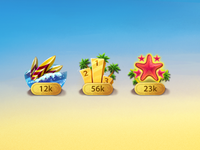Achievements icons for casino game