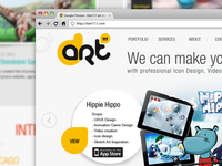New Design for Art Studio Website