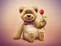 Lovely Spring Bear + PSD