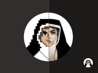 Pixel Mother Teresa