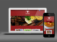 Vanin Restaurant - Responsive Website