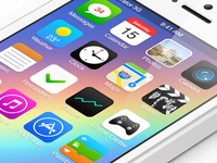 iOS 7 Concept with interactive icon