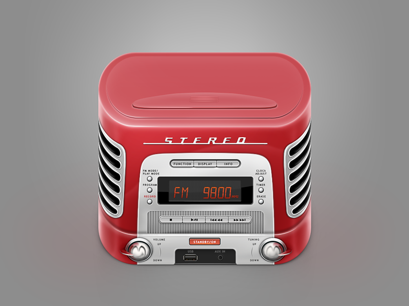 Icon retro music box by Alex Martinov