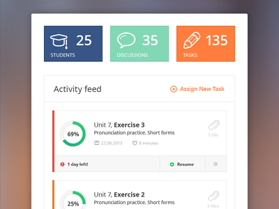 Download Free Activity Feed PSD