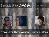 I made it to dribbble. Thank you note.
