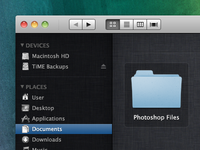 Finder on Mac OS X Lion