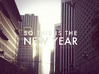 This is the new year