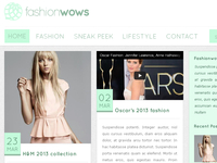 Fashionwows! blog design v2