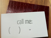 "Letterpressed ""Call Me"" Card"