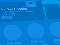 Feeling Blue - Portfolio Wireframe