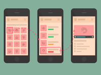 Mobile cooking app wireframe (free)