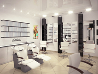 7th heaven beauty salon. Color bar and styling units