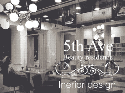 Fifth Ave beauty salon interior design title pic